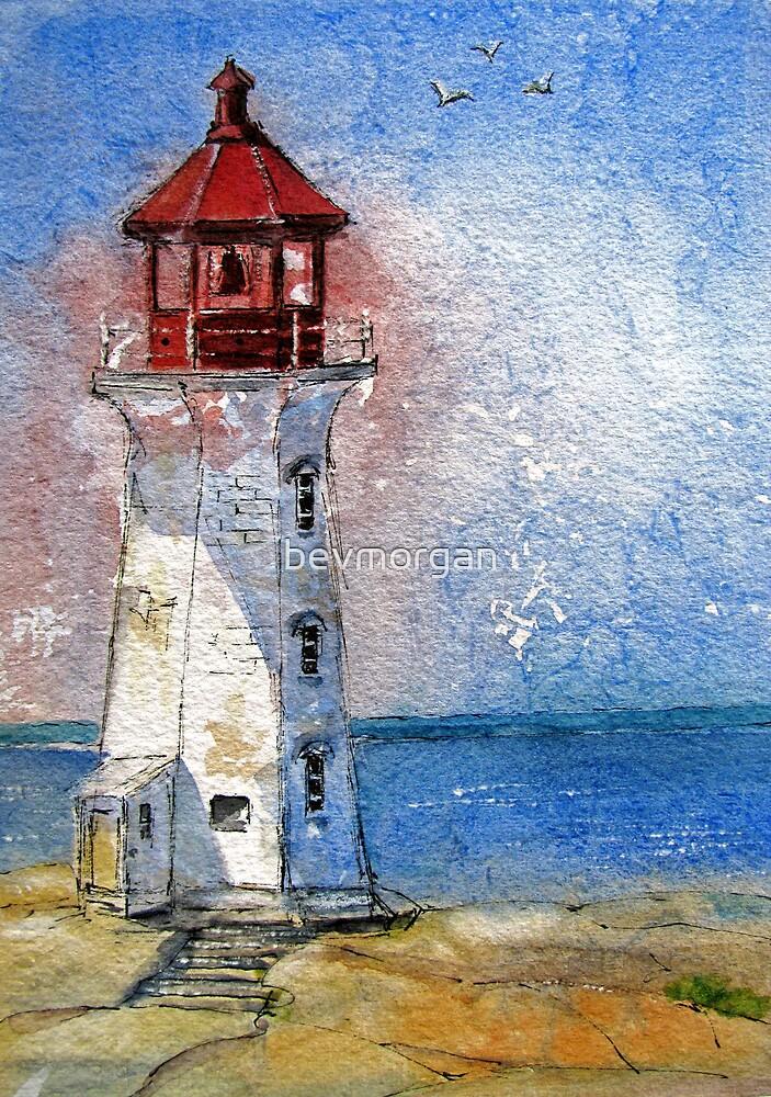 Peggys Cove Lighthouse Nova Scotia by bevmorgan