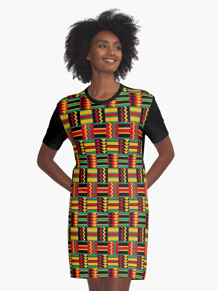 african pattern design red