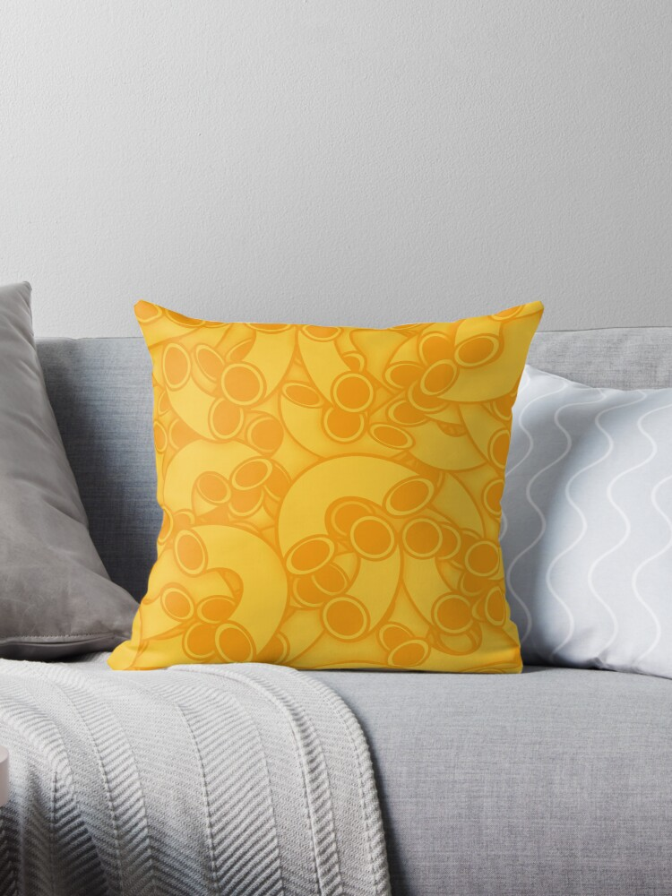 mac and cheese Throw Pillows by B0red  Redbubble