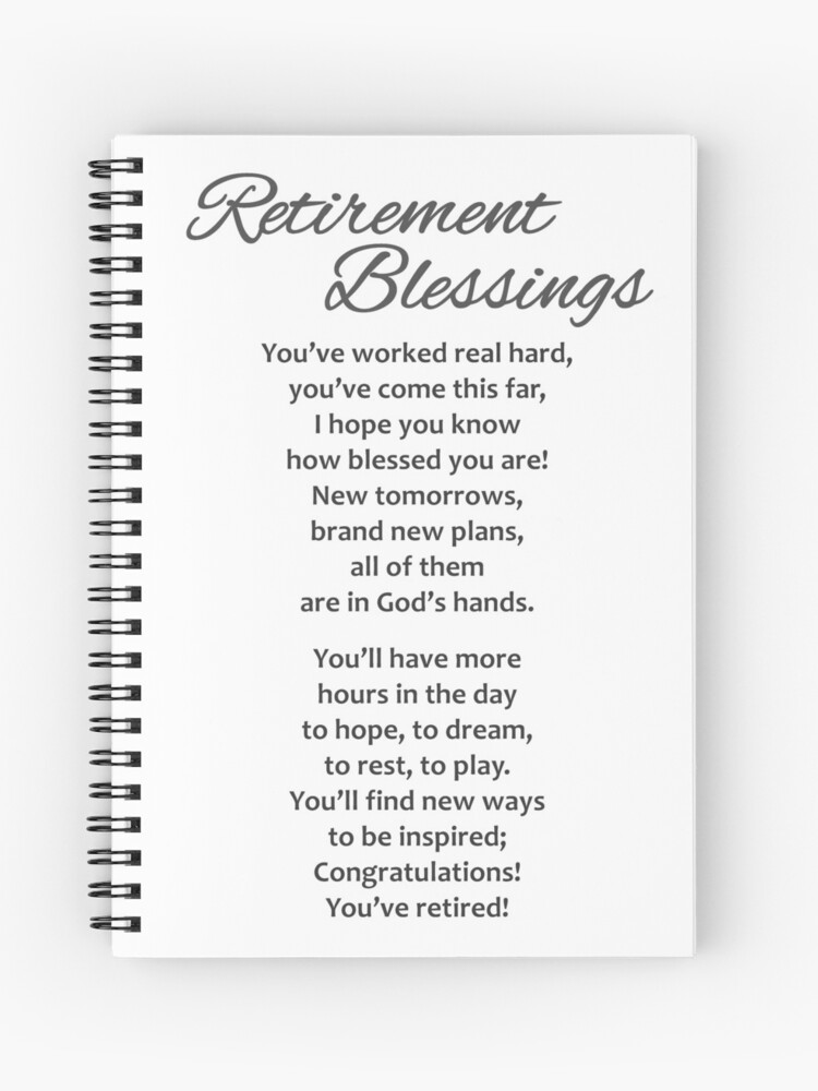 retirement gifts spiral notebook
