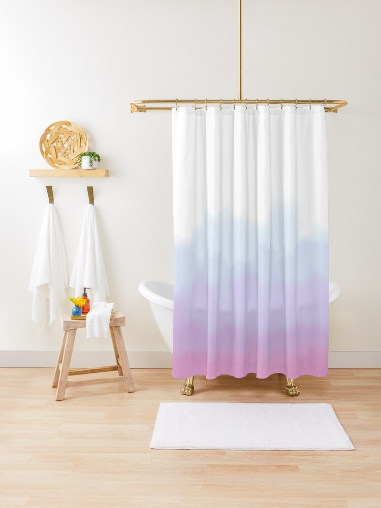fading ombre pink purple blue watercolor shower curtain by specklerock redbubble