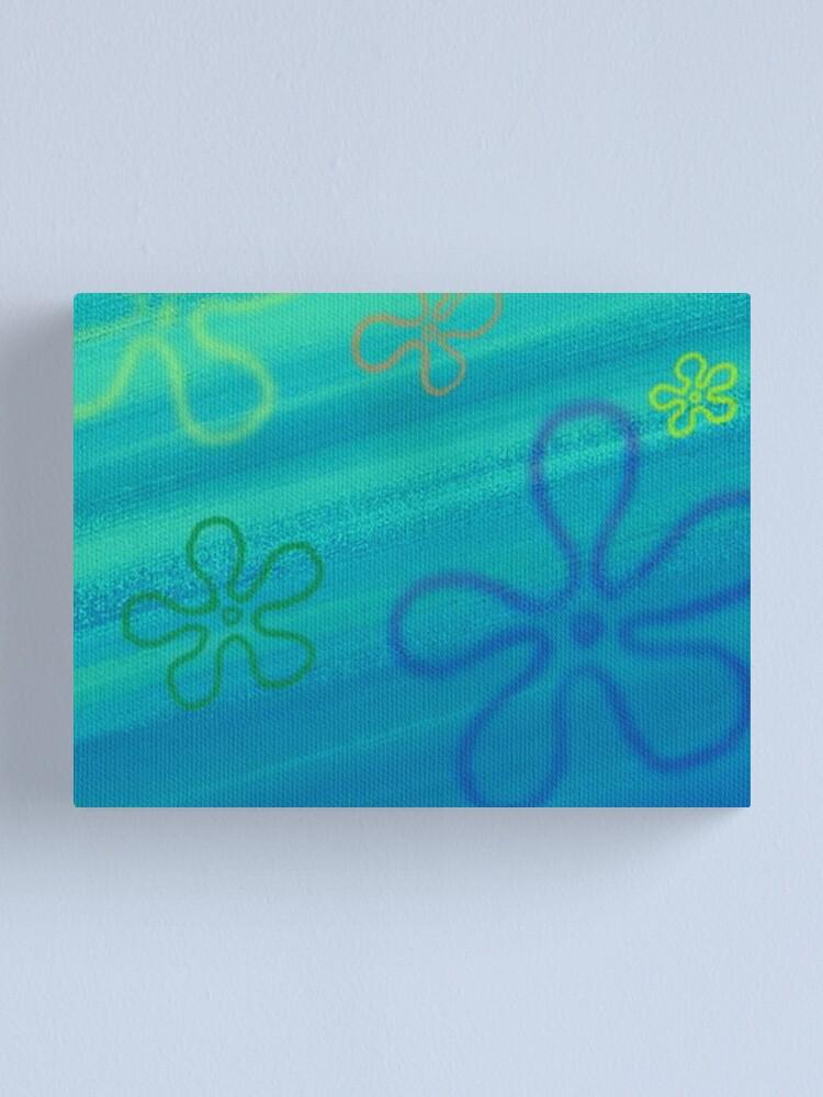 Spongebob Flower Sky : spongebob, flower, Spongebob, Flower, Canvas, Print, Dillpicklechips, Redbubble