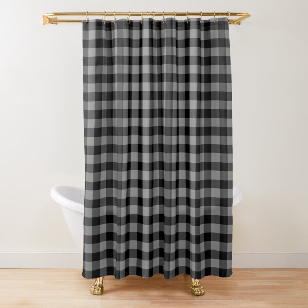 gray country cottage summer buffalo plaid shower curtain by podartist redbubble