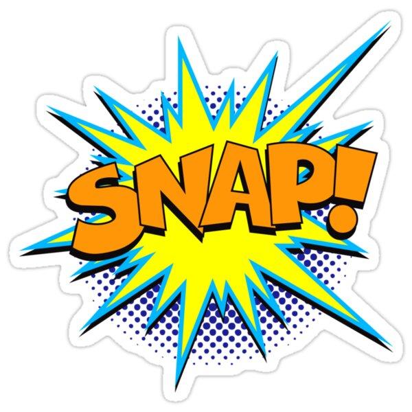 Funny Superhero comic word SNAP Stickers by Tee Brain Creative  Redbubble