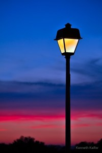 """""""Sunset Lamp Post"""" by Kenneth Keifer 