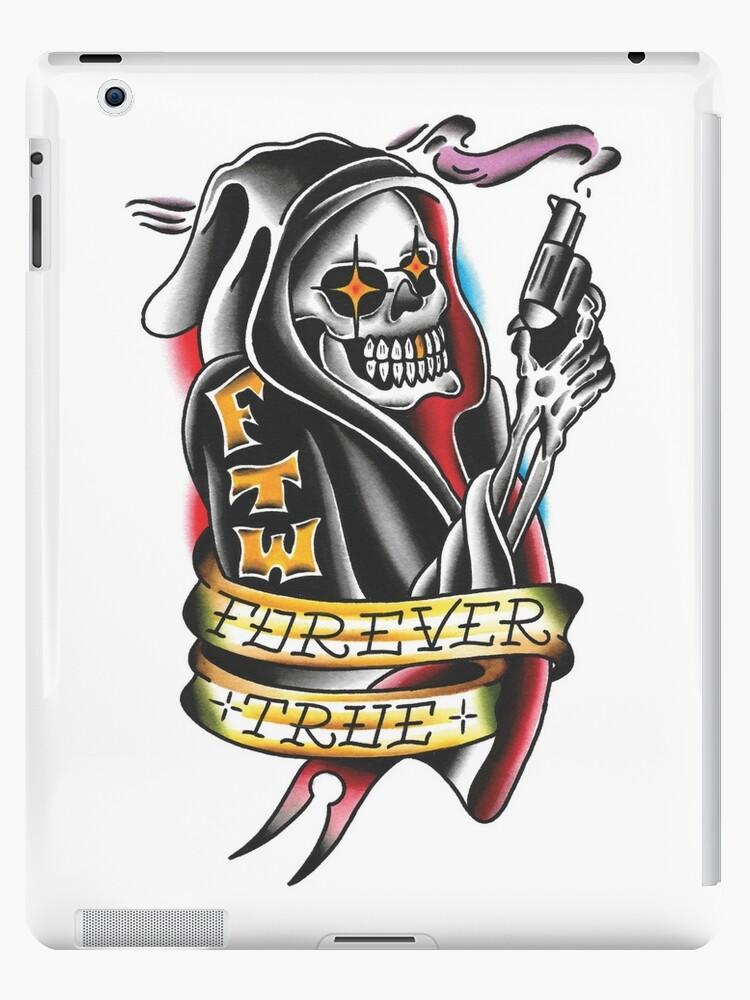 American Traditional Grim Reaper : american, traditional, reaper, Traditional, Reaper, Tattoo, Design, F-T-T, Redbubble