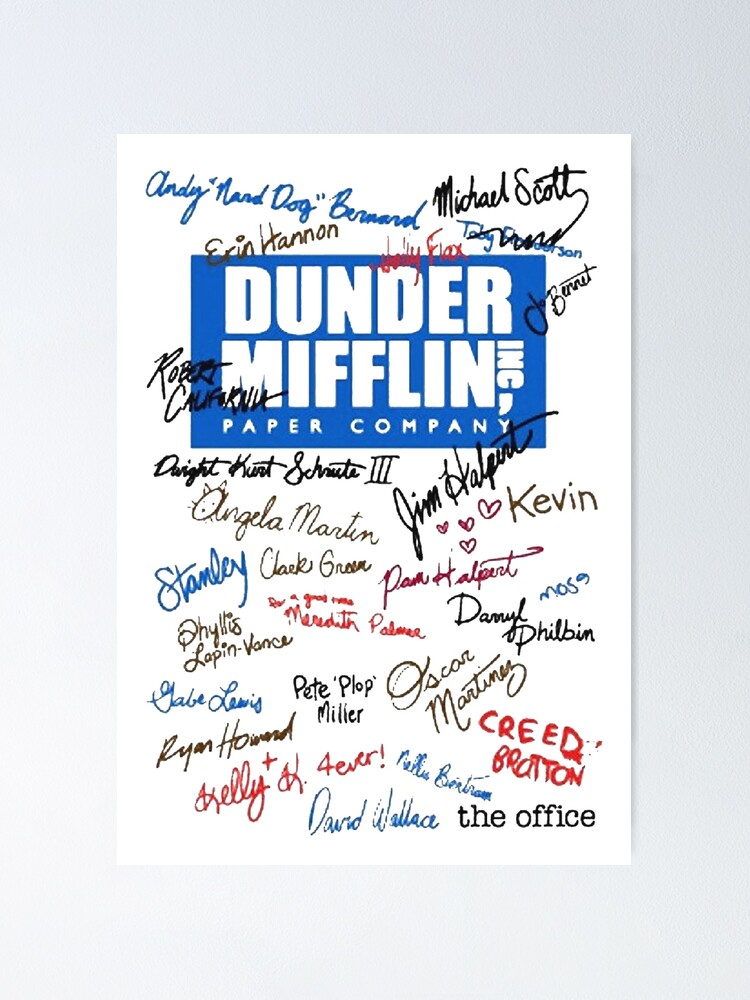 the office dunder mifflin poster by evelynnajwa redbubble