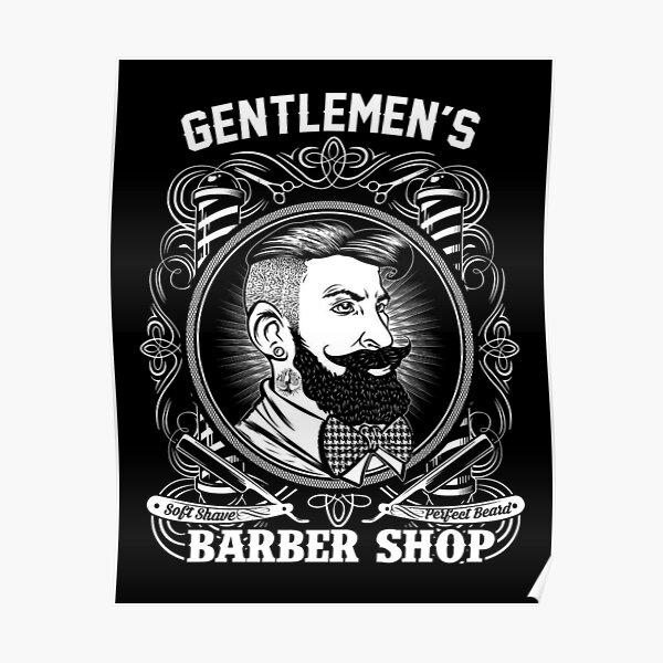 barber shop vintage posters redbubble