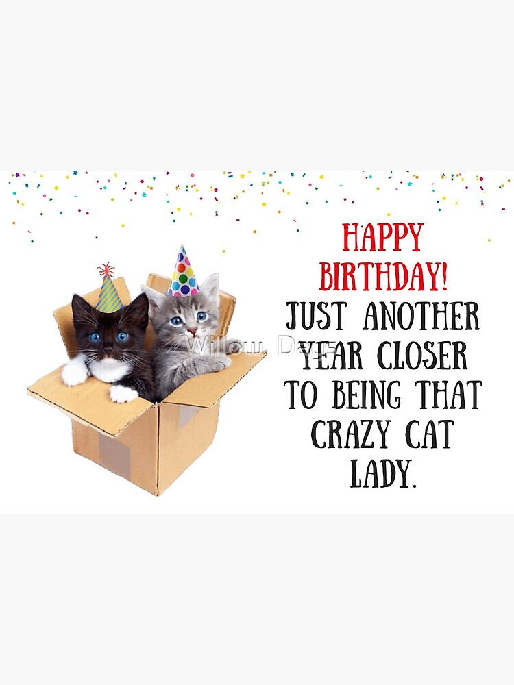Cat Lady Birthday Meme : birthday, Birthday, Card,, Greeting, Cards