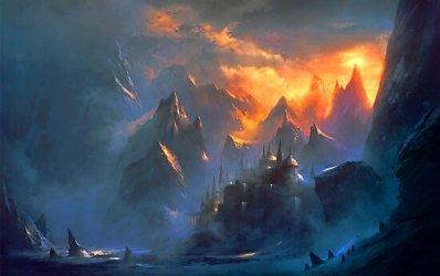 fantasy village mountain redbubble
