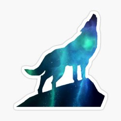Galaxy Wolf Stickers Redbubble