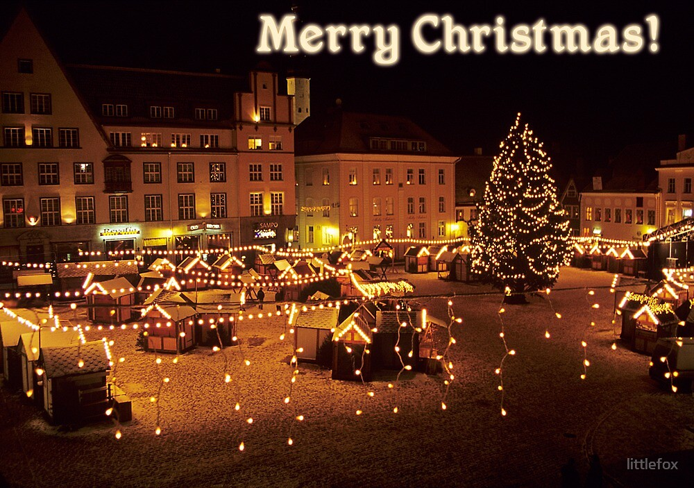 Merry Christmas From Estonia By Mariann Rea Redbubble