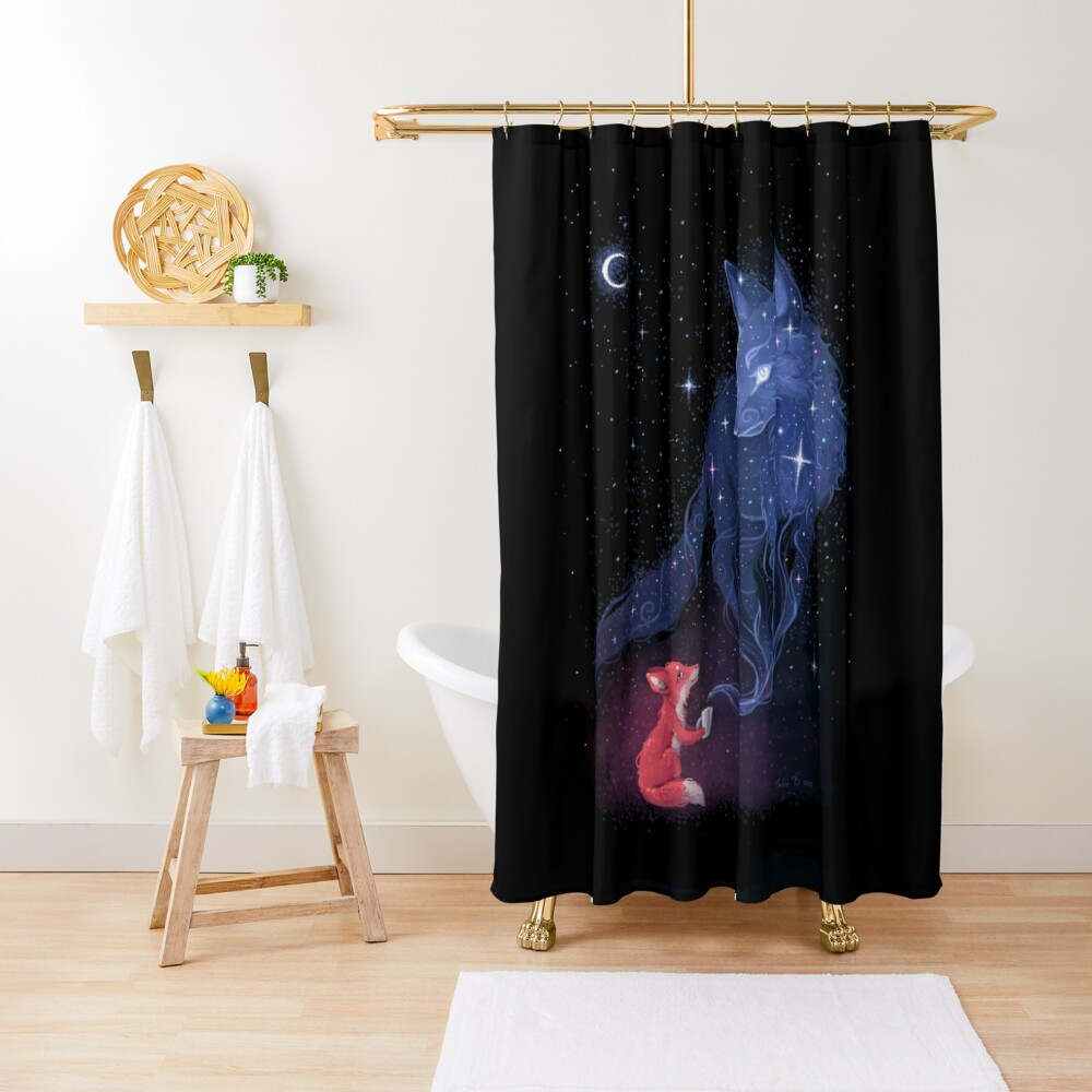 celestial shower curtain by freeminds redbubble