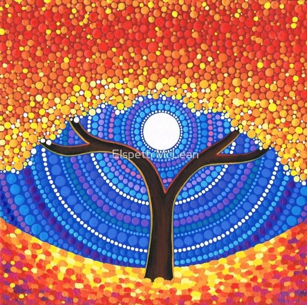 """autumn Moon"" Elspeth Mclean Redbubble"