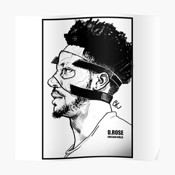 d rose chicago bulls poster by tertanda redbubble