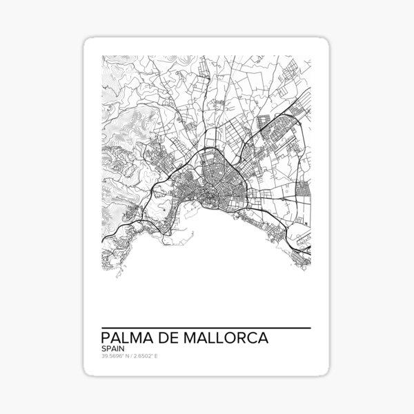 palma de mallorca karte poster drucken wandkunst spanien geschenk heim und kindergarten moderne karte dekor fur buro karte kunst karte geschenke sticker von marzzgraphics redbubble