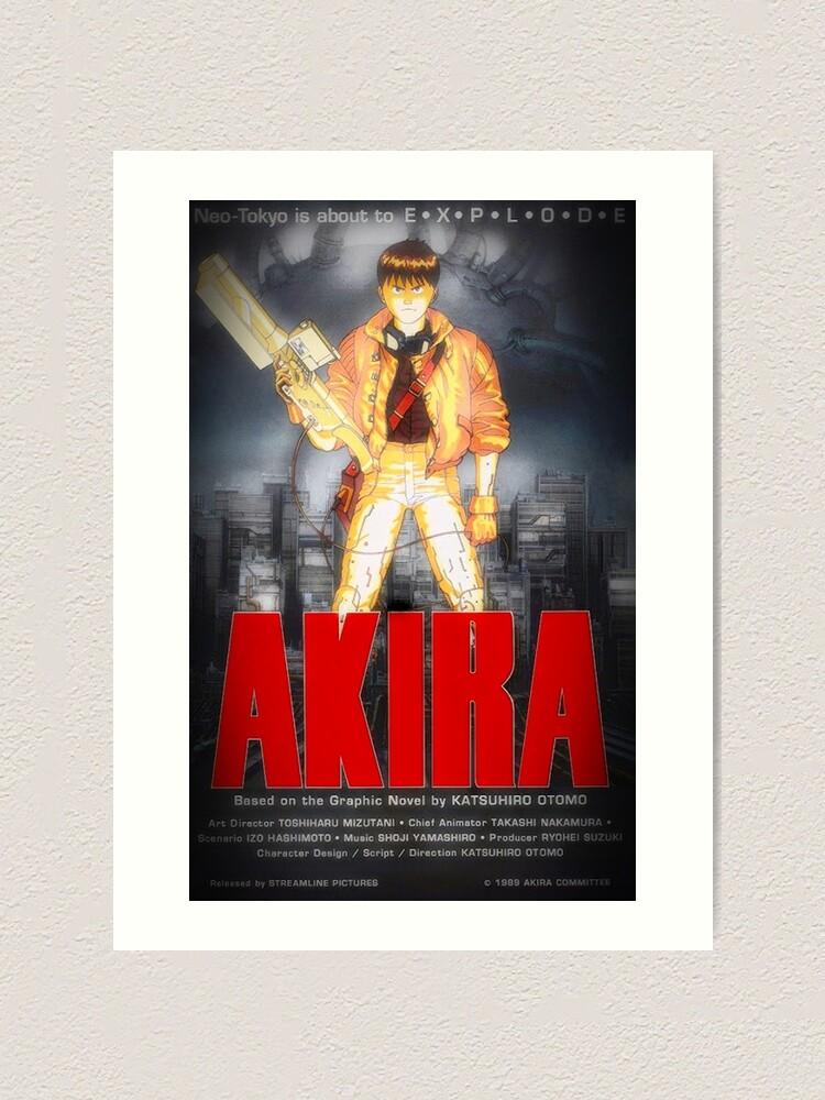 akira movie poster dark kunstdruck von quietman297 redbubble