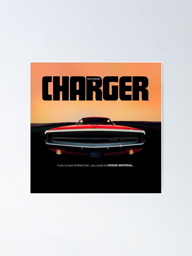 1970 dodge charger vintage werbung poster von drogobroadband redbubble
