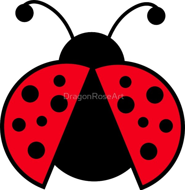 """ladybug graphic"" dragonroseart"