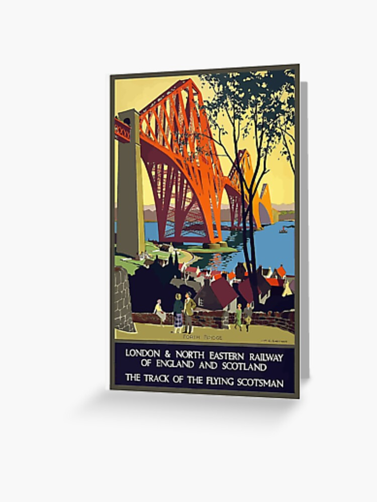 Vintage Flying Scotsman Scotland England Travel Vacation Holiday Advertisement Art Poster Greeting Card By Jnniepce Redbubble