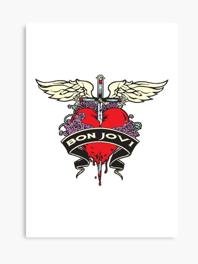 bon jovi logo canvas