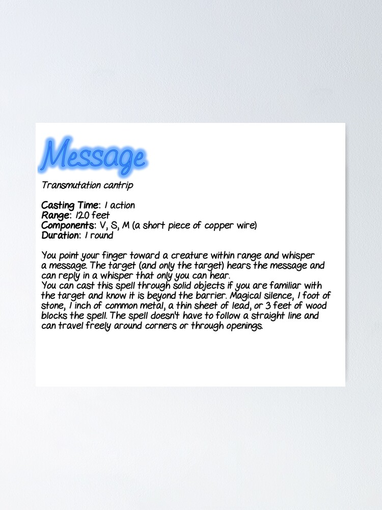Spell Message : spell, message, Spell:, Message