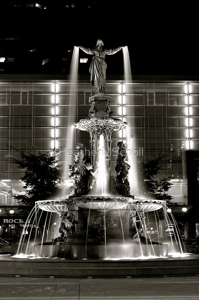 Fountain Square Cincinnati by HeatherMScholl  Redbubble