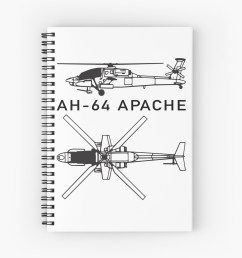 ah 64 apache attack helicopter spiral notebook [ 1171 x 1313 Pixel ]