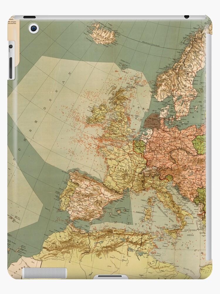 Submarine Map : submarine, World, German, Submarine, (U-Boat), (1918)