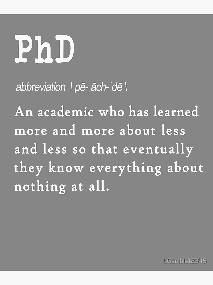 What Does Phd Stand For Funny : stand, funny, Stand, Funny