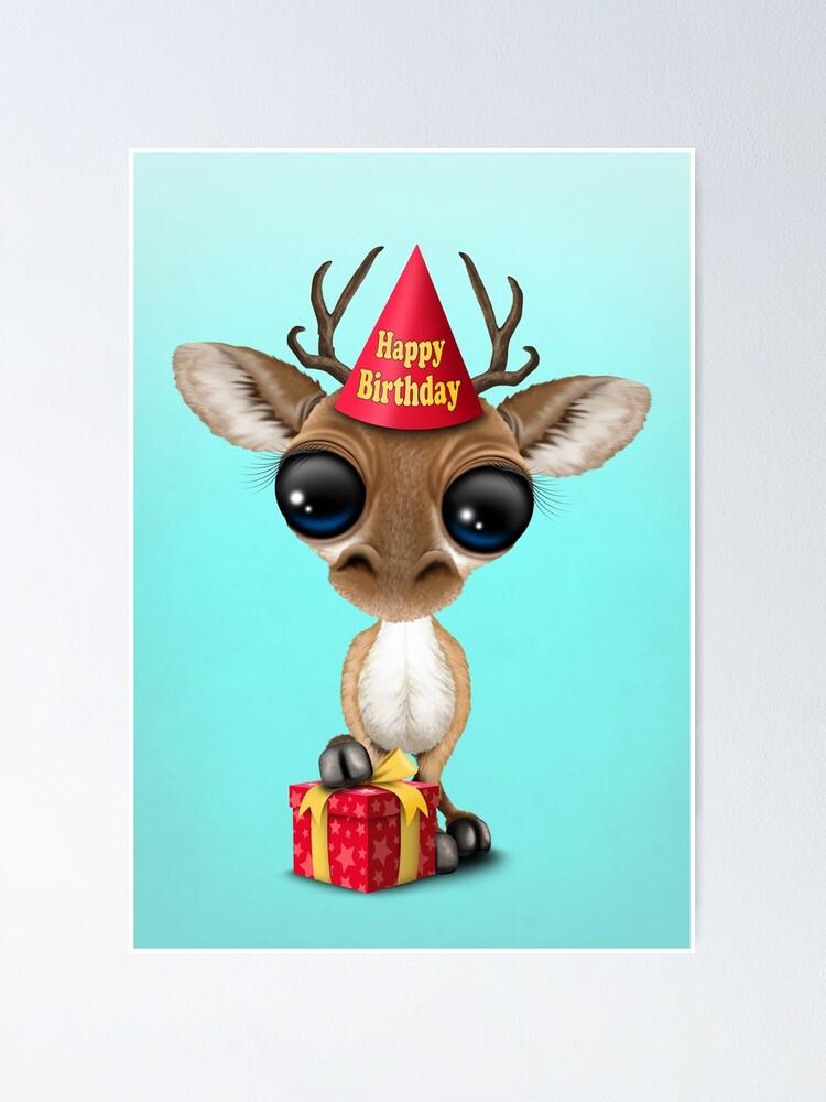 Happy Birthday Images With Deer : happy, birthday, images, Happy, Birthday, Poster, JeffBartels, Redbubble