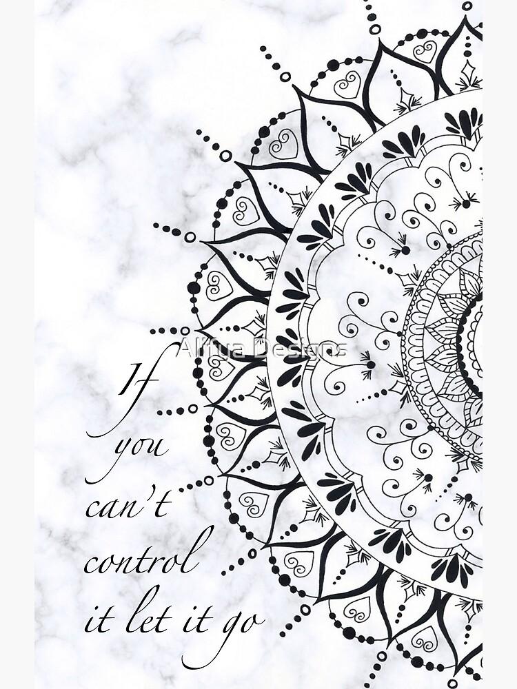 Poster « 'Si vous ne pouvez pas le contrôler Let It Go