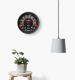 jeep cj tachometer speedometer gauge clock by tkgarage redbubble [ 1000 x 1000 Pixel ]