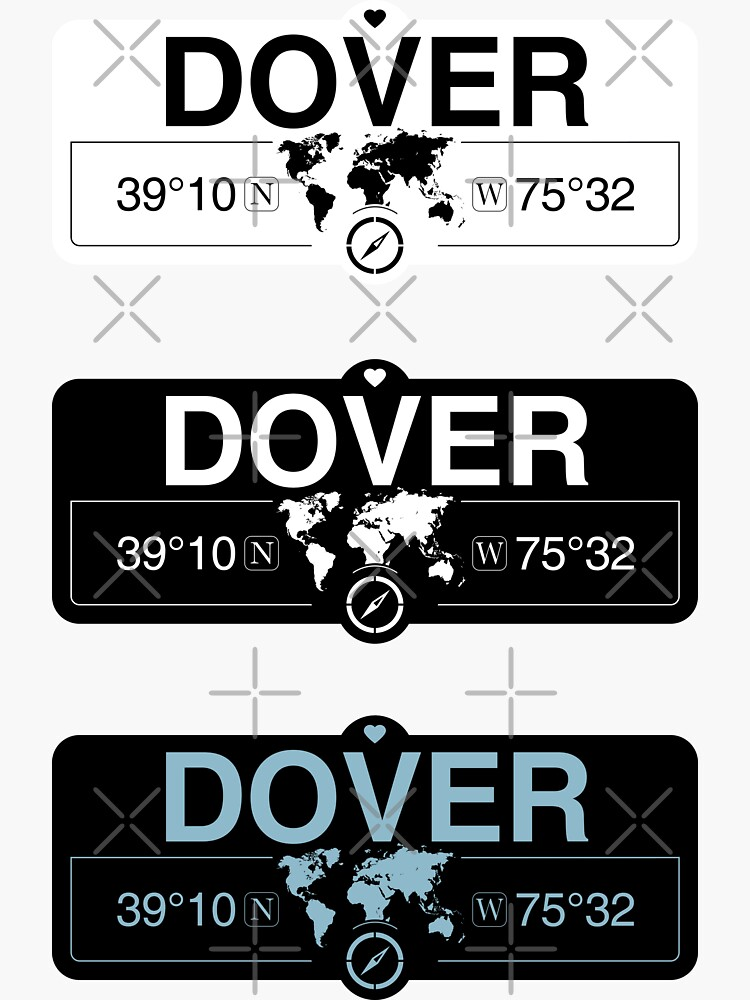dover delaware usa decals