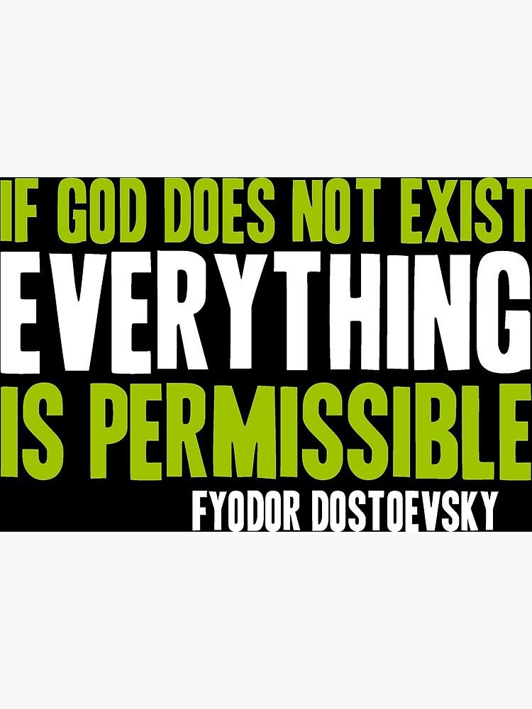 Si Dieu N'existe Pas Tout Est Permis : n'existe, permis, Carte, Vœux, N'existe, Permis, Parable, Redbubble