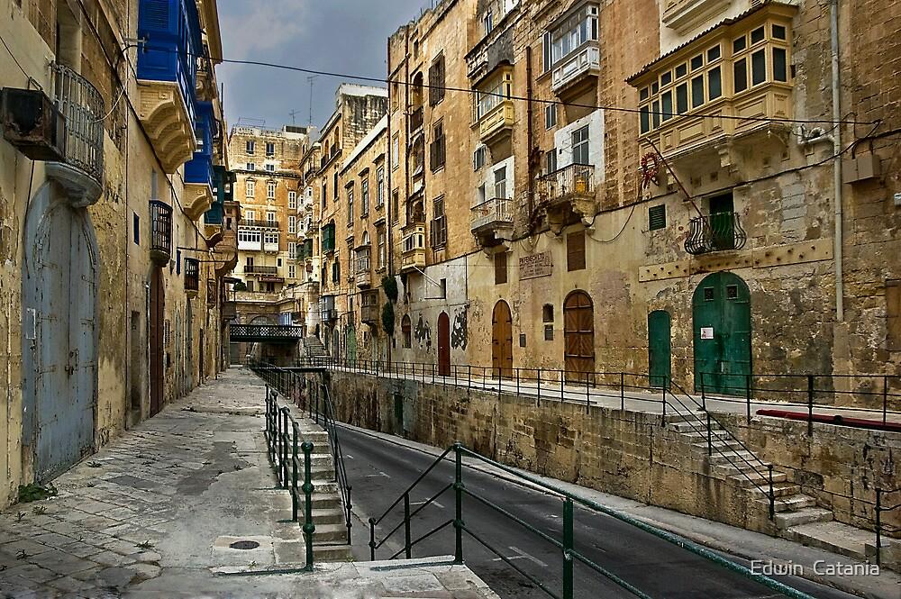 East Street Valletta Malta by Edwin Catania  Redbubble