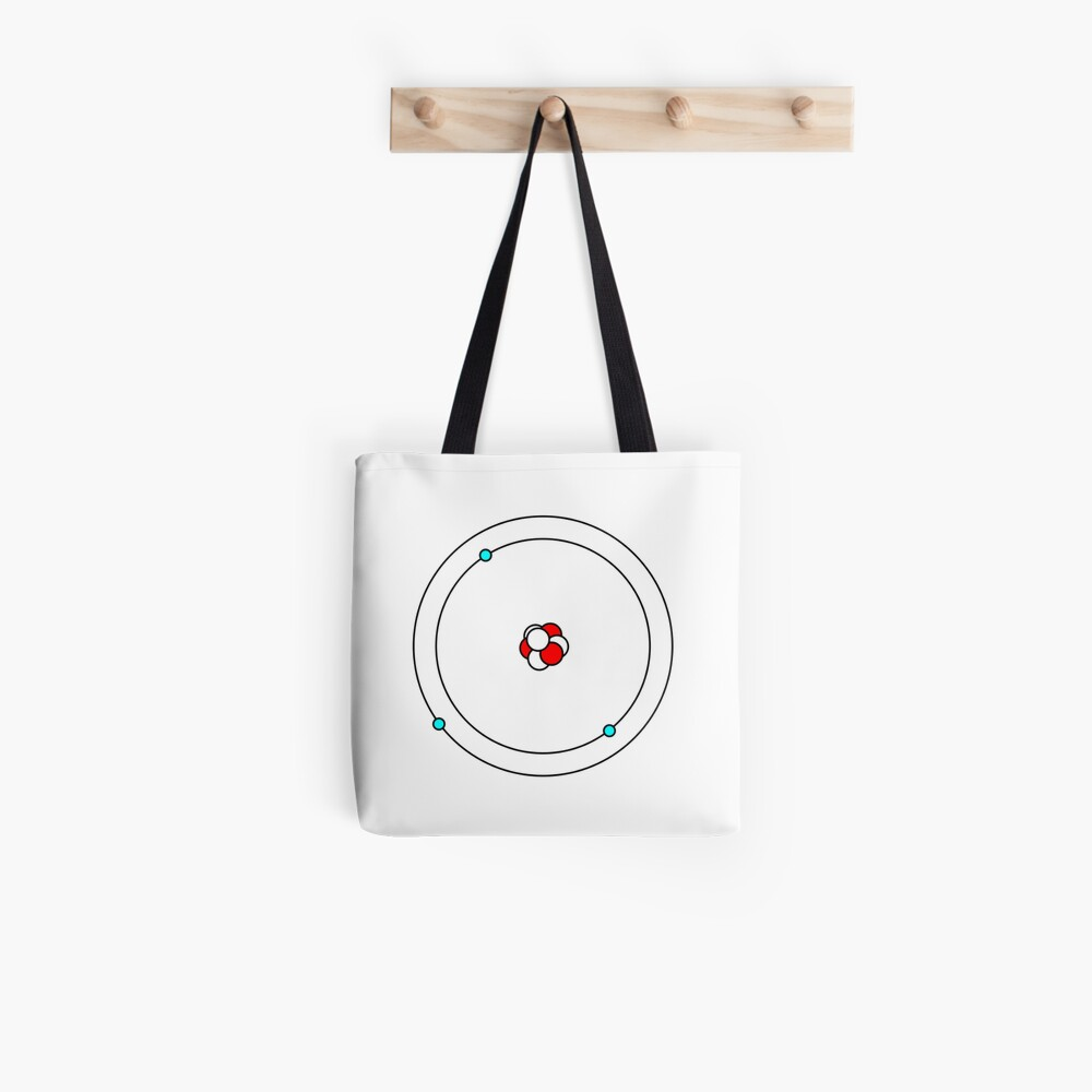hight resolution of  atomic lithium atom in bohr model tote bag by tomsredbubble redbubble