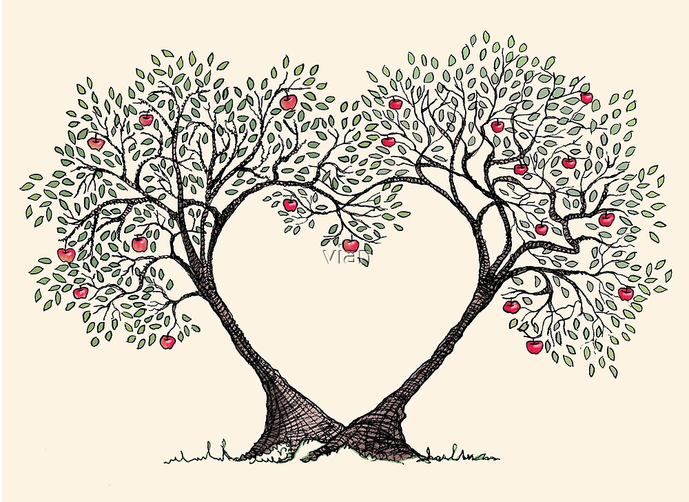 Love Trees By Vian Redbubble