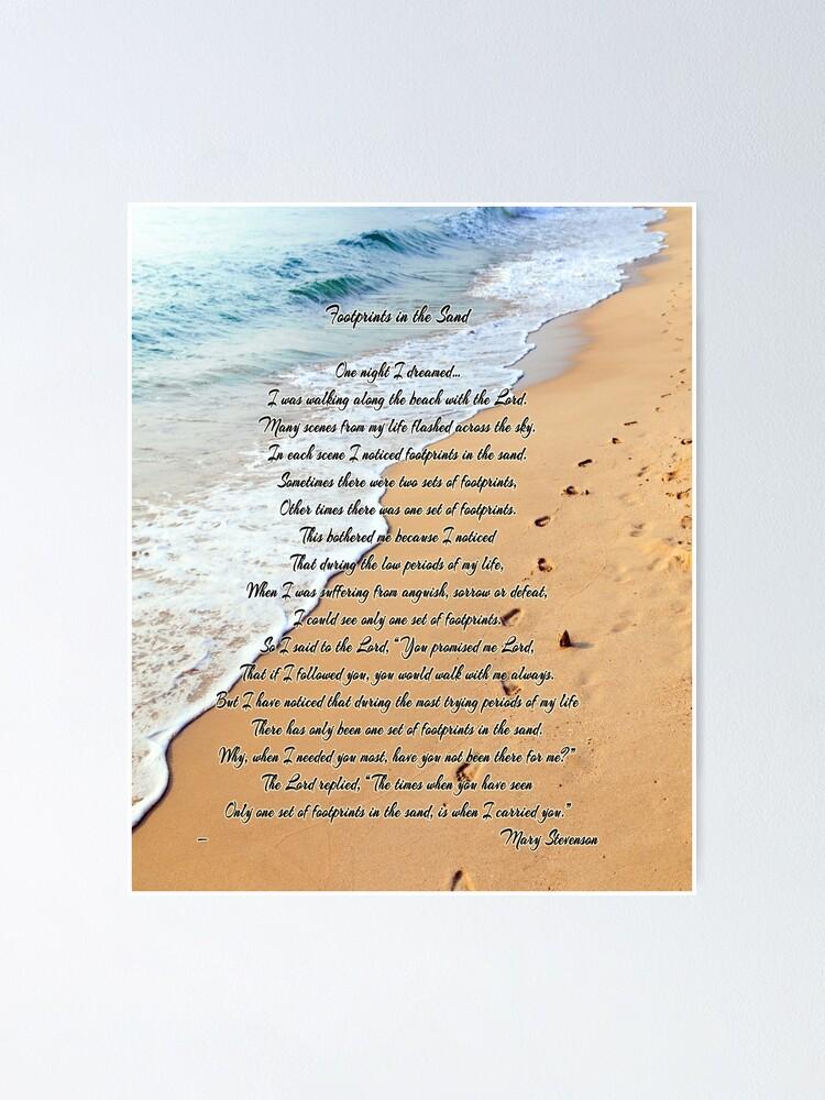Trace De Pas Dans Le Sable : trace, sable, Poster, Traces, Sable, Delights, Redbubble