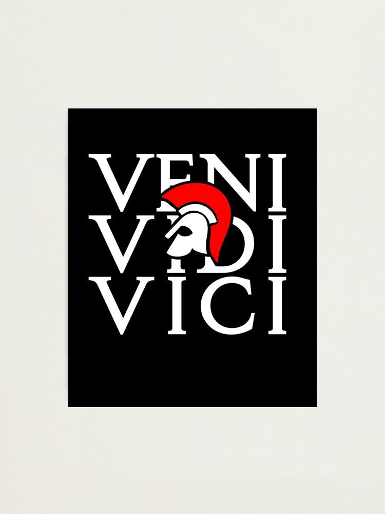 J Ai Vu J Ai Vaincu : vaincu, Impression, Photo, Latin, Venu,, Vaincu, L7seven, Redbubble