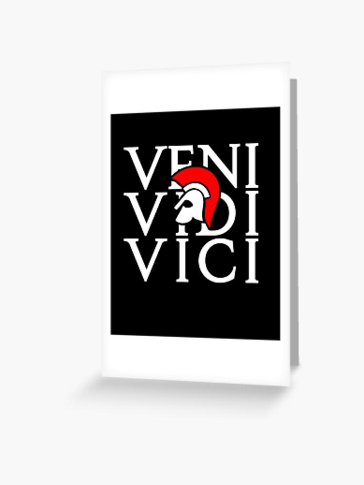 J Ai Vu J Ai Vaincu : vaincu, Carte, Vœux, Latin, Venu,, Vaincu, L7seven, Redbubble