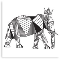 """Geometric Elephant"" Canvas Prints by psydrian 