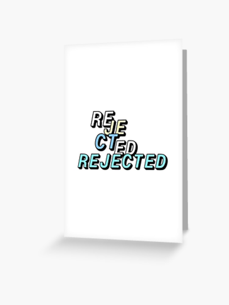 Rejected Zoey 101 : rejected, Rejected, Greeting, Katepackard, Redbubble