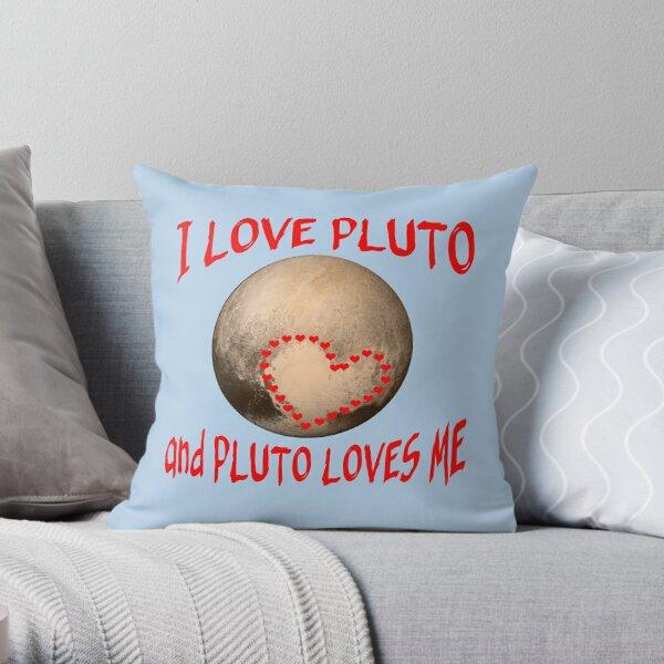 pluto heart pillows cushions redbubble