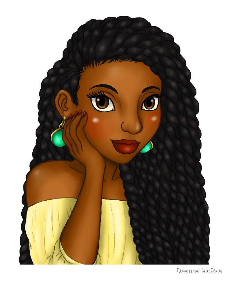 Cartoon Box Braids : cartoon, braids, Beautiful, Woman, Braids