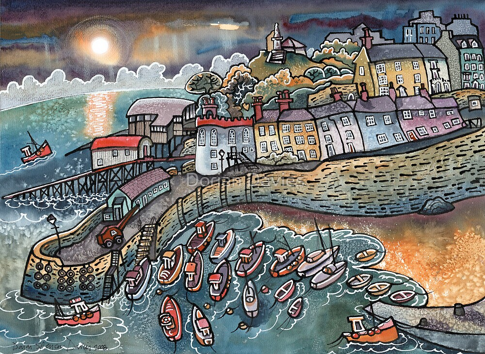 Beautiful harbour Tenby Wales by Dorian Davies  Redbubble