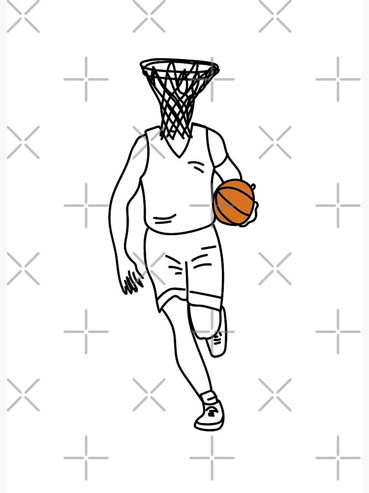 Basketball Hoop Drawing : basketball, drawing, Basket, Head,, Basketball, Player, Drawing, Head!