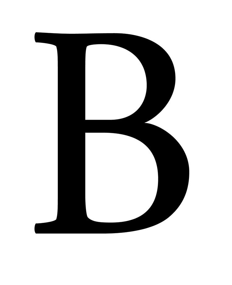 Letter B In Different Fonts : letter, different, fonts, Letter, Roman