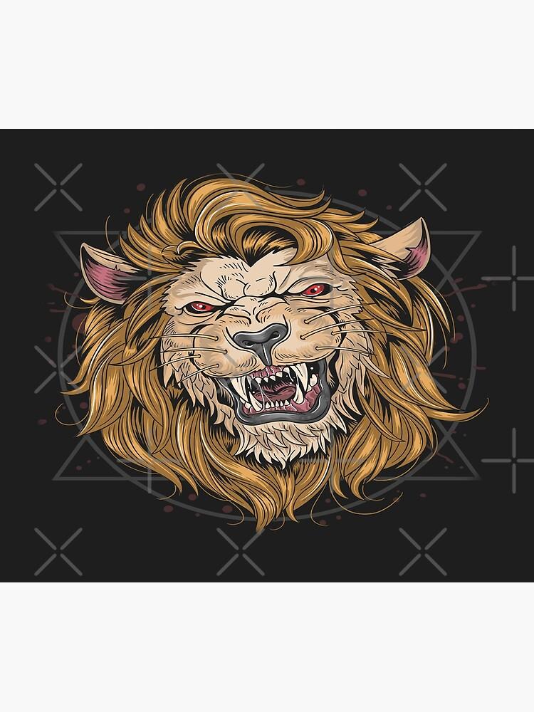 fierce lion poster