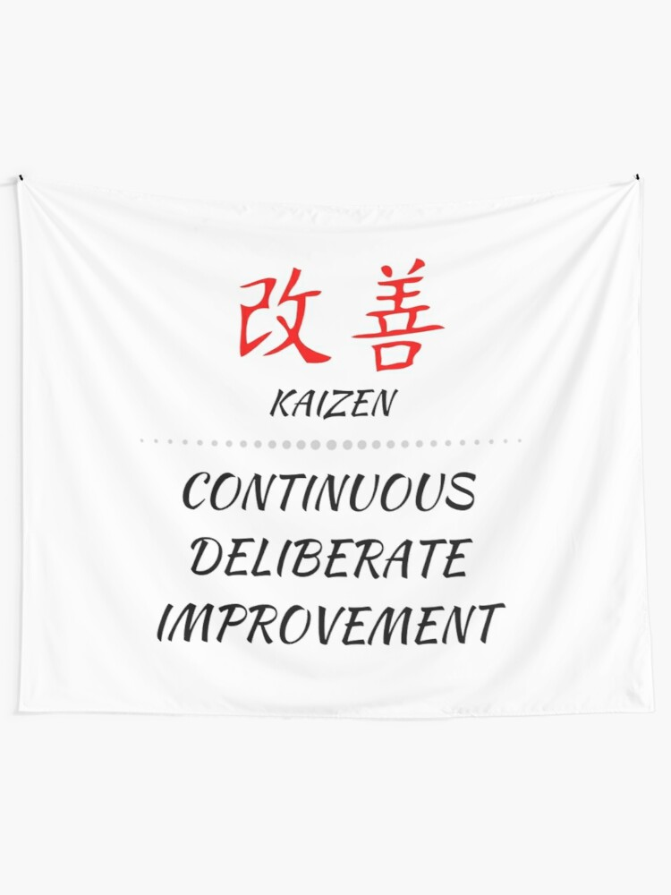 kaizen change for the better japanese life inspiration tapestry by 4wordsmovement redbubble